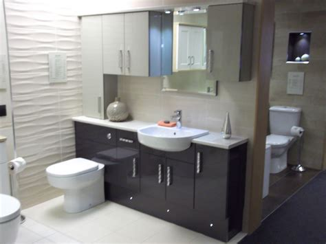 Fitted Bathroom Furniture Manufacturers Ikon Gloss Caramel And Graphite Fitted Furniture Best Kitchen Bathroom Tile Ideas