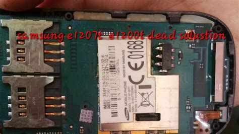 samsung e1207t dead solution samsung e1200y e1200t dead solution