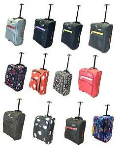 cabin cases 50x40x20 cabin luggage suitcase ryanair wheeled trolley travel