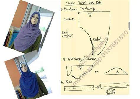 Gamis Pola Cap Ptrfr pola tudung jilbab