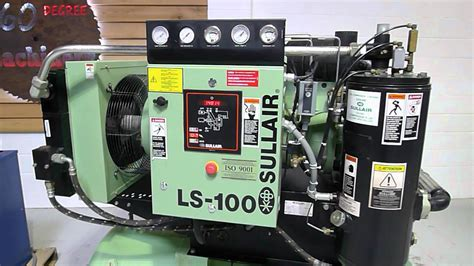 2004 sullair ls 100 40hp rotary compressor tank