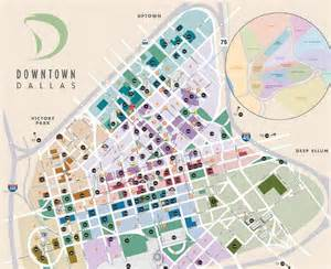 map of downtown dallas central business district getting around map downtown