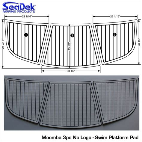 boat platform pad moomba seadek overstock swim platform pad boating and