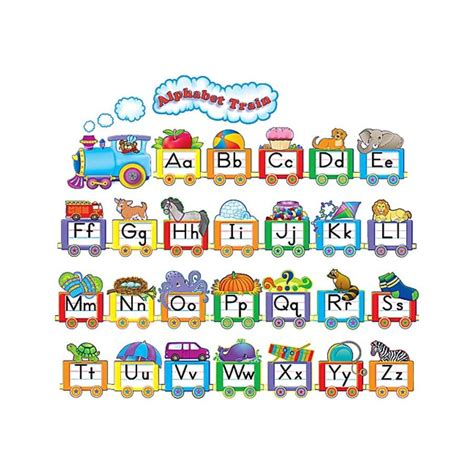Alphabet Train Bulletin Board Display Set Tcr4421