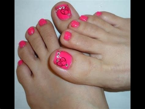 valentines day  toe nail design youtube
