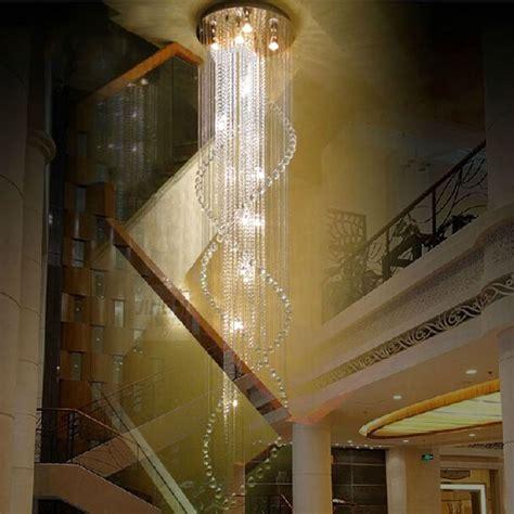 Diy Large Chandelier Best Price Duplex Staircase K9 Chandelier Villa Luxury Hotel Stair Pendant L Led