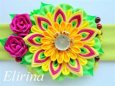 Pita Yellow Headband T2909 17 best images about flores kanzashi on kanzashi tutorial headband flowers and flower