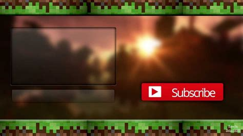 Minecraft Outro Template Maker by Free Minecraft Outro