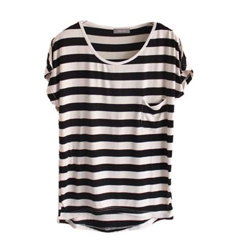Tshirt Kaos Striped womens black and white striped shirt is shirt