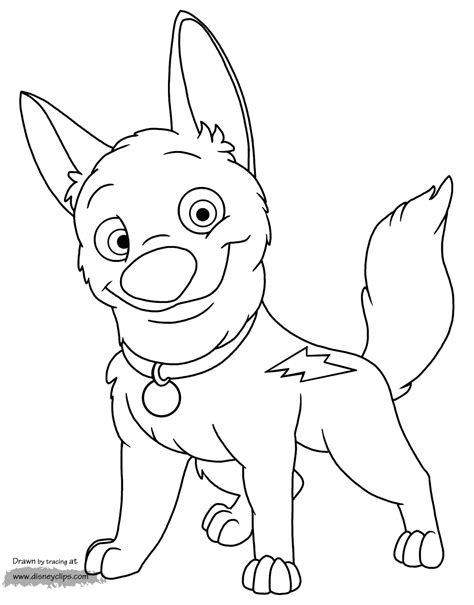 coloring pages to color disney s bolt coloring pages disney coloring book