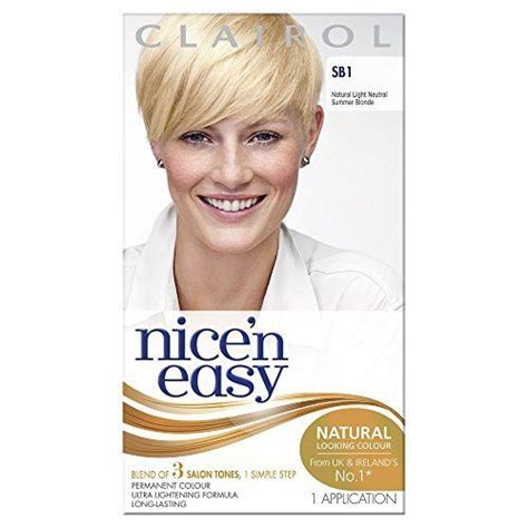 clairol nice n easy natural neutral blonde new style for clairol nice n easy sb1 nat light neutral summer blonde ebay