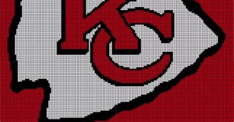 crochet pattern kansas city chiefs afghan kansas city chiefs pattern afghan graph 5 00 pattern