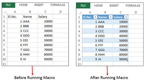 tables in excel vba explained with exles