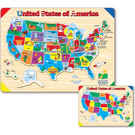 usa map puzzle the learning journey lift and learn usa map puzzle
