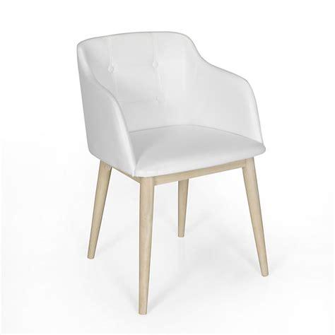 chaise de sejour chaise de s 233 jour capitonn 233 e en simili cuir blanc cork
