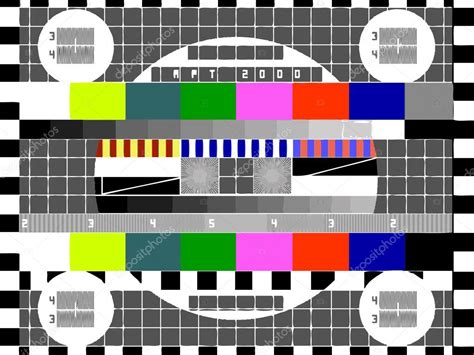 pattern test copyright tv color test pattern test card vector stock vector