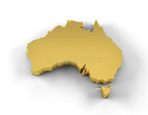 investment banks sydney australia map 3d gold with clipping path royalty free