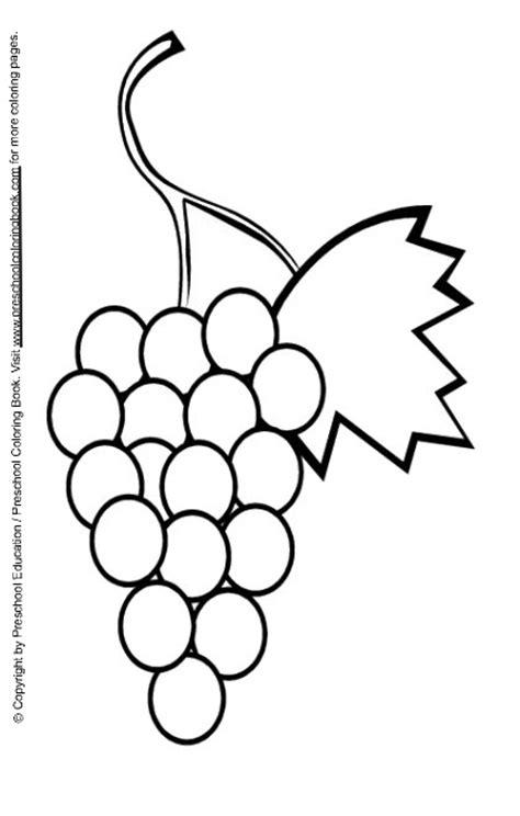 preschool coloring pages grapes www preschoolcoloringbook com food coloring page