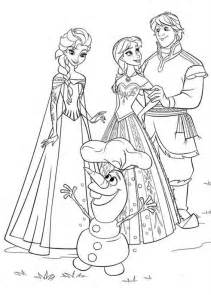 frozen coloring pages and kristoff family elsa kristoff and olaf coloring page coloring page