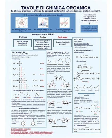 tavola di chimica tavola di chimica organica edizioni idelson gnocchi