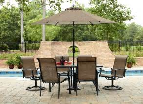 Outside Patio Set Garden Oasis Harrison 7 Dining Set Sears