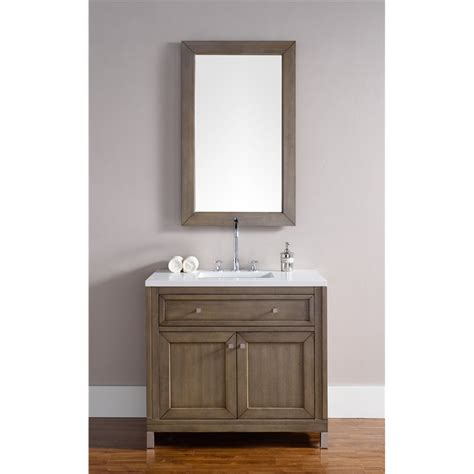 bathroom vanity chicago quot chicago 36 quot quot single vanity white washed walnut quot