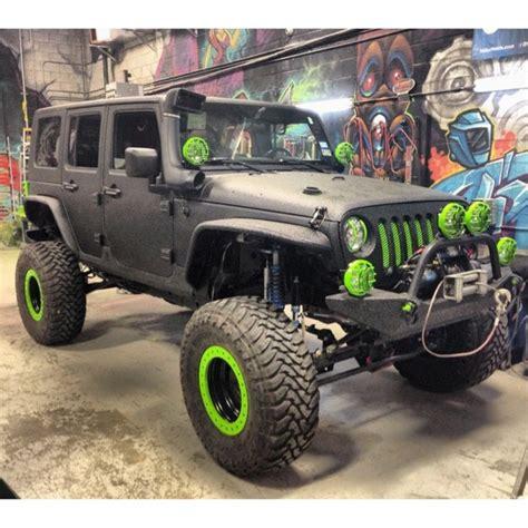 Black Green Jeepp Jk Cars Bikes Pinterest Jeeps