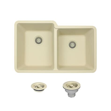 white composite kitchen sinks mr direct all in one undermount composite 33 in double