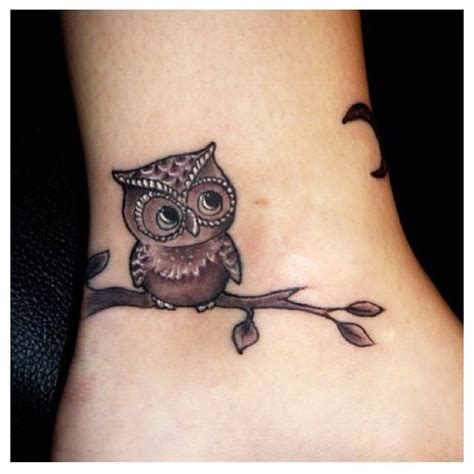 retro owl tattoo tattoos pinterest