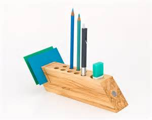 Desk Pen Organizer Desk Caddy Wood Desk Organizer Office Accessories By Lessandmore