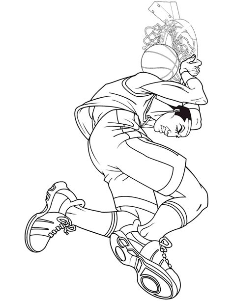 hard basketball coloring pages cool coloring pages to print for free 600x596px images