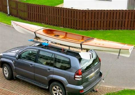 sculling boat car roof rack expedition wherry fyne boat kits