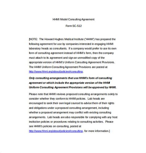 business consultant agreement lovely business consultant agreement template free