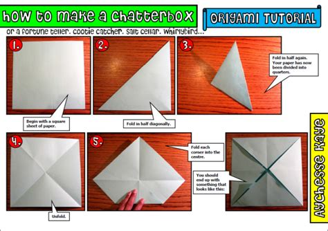 How To Make A Chatterbox With Paper - how to make an origami chatterbox tutorial origami handmade