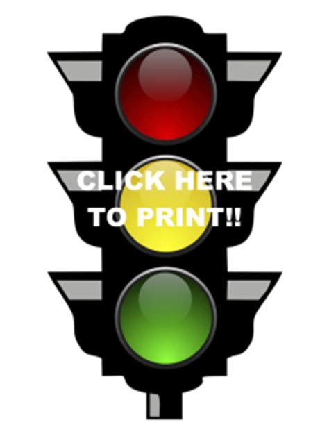 Printable Traffic Light Behavior Chart Printable Printable Traffic Light
