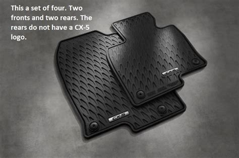 Floor Mats For Mazda Cx 5 by Genuine 2017 Mazda Cx 5 Rubber All Weather Floor Mats Set