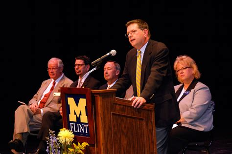 Um Flint Start Of New by Um Flint Provost Sets Expectations For New Academic Year