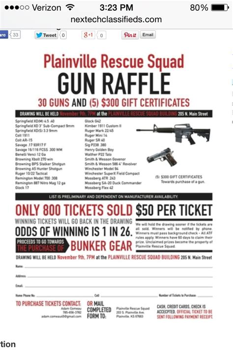 Raffle Flyer Don T Like The Guns But The Layout Might Work Ok For Us Raffle Mania Gun Raffle Ticket Template