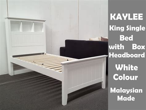 Wooden Single Bed Frame Nz Furniture Place Kaylee King Single Bed With Box Headboard