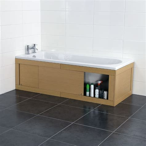 Bath Shower Seats croydex unfold n fit light wood bath panel with lockable