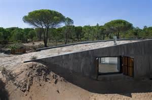 Concrete Roof House Plans Concrete House Buried Artificial Sand Dunes Modern