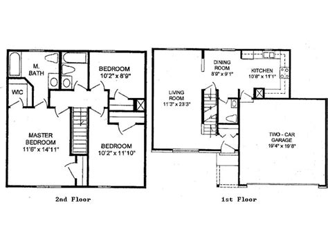 Two Story Two Bedroom House Plans by 2 Story 3 Bedroom House Plans Photos And