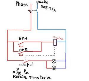 schema branchement minuterie