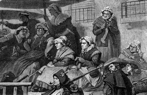 Guillotine Wretched Knitting Mob Prisoners Cart