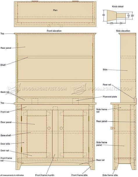 shaker bookcase plans woodarchivist
