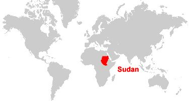 where is sudan on the world map sudan map and satellite image