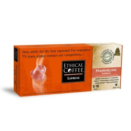 Espresso Mandheling Blend 500gr mandheling supreme by ethical coffee nespresso 174 compatible