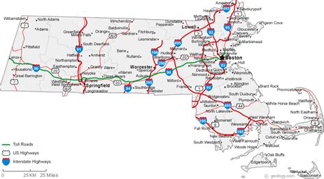 map massachusetts map of massachusetts cities massachusetts road map