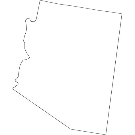 arizona state map outline arizona vector map at vectorportal