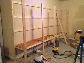 How To Build A Hanging Shelf In Garage by How To Build Garage Cabinets How To Build Garage